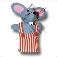 Trullala finger puppet mouse