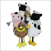 Finger puppets set farm animals