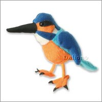 Finger puppet kingfisher