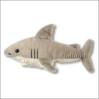 Finger puppet great white shark