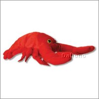 Finger puppet red lobster
