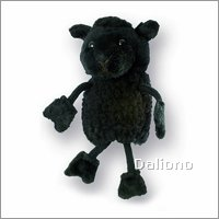 Finger puppet black sheep