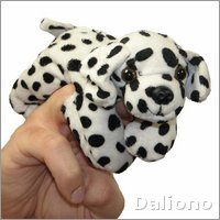 Dalmatian - walking finger puppet