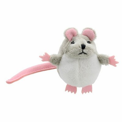 Finger puppet mouse, grey