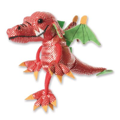 Finger puppet dragon, red