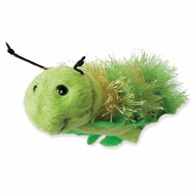Finger puppet green caterpillar