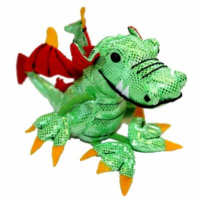 Finger puppet dragon, green
