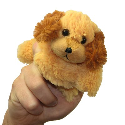 Dog, brown - walking finger puppet