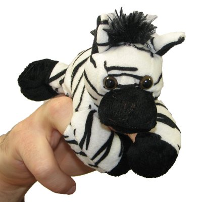 Zebra - walking finger puppet