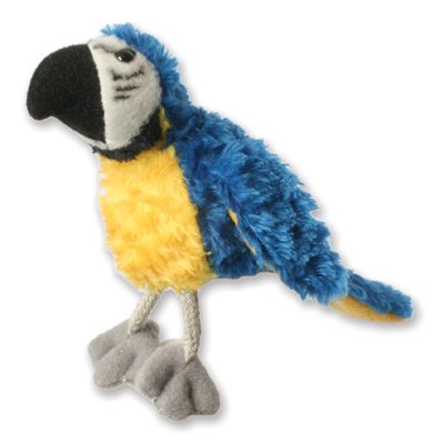 Finger puppet blue and gold macaw