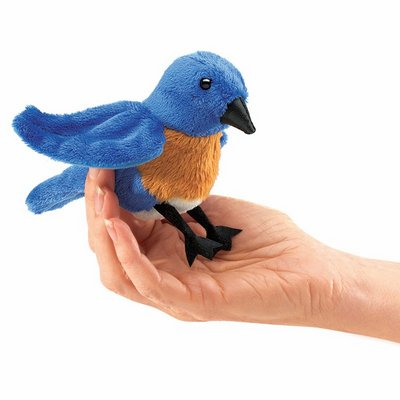 Folkmanis finger puppet mini bluebird