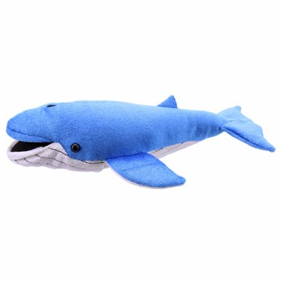 Blue whale (large) - finger puppet