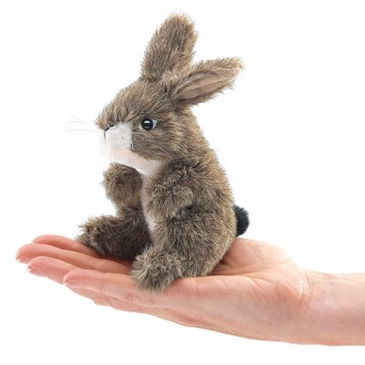 Folkmanis finger puppet mini Jack Rabbit