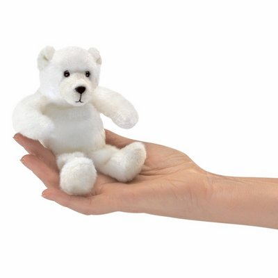 Folkmanis finger puppet mini polar bear