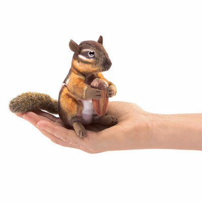 Folkmanis finger puppet mini chipmunk with acorn